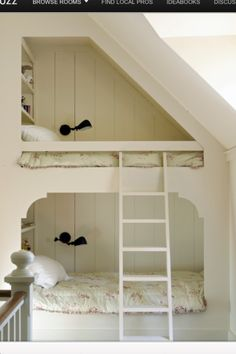 bunk beds, attic eaves?