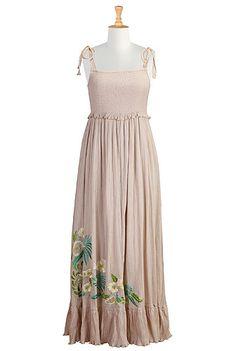 Floral embellished maxi dress