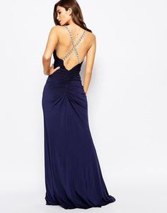 Forever Unique   Forever Unique Shakria Wrap Front Maxi Dress With Embellished Back Detail at ASOS