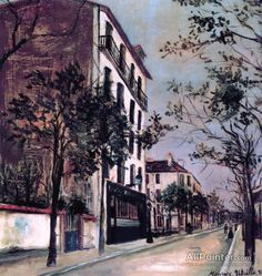 Maurice Utrillo Street In Sannois oil painting reproductions for sale