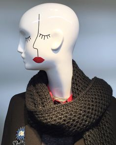 """ZARA,""""Sometimes when I close my eyes.....I can't see"""", mannequin by Schlappi, pinned by Ton van der Veer"""