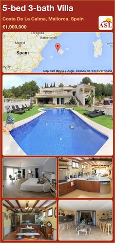 5-bed 3-bath Villa in Costa De La Calma, Mallorca, Spain ►€1,900,000 #PropertyForSaleInSpain