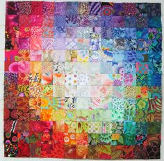 "Colorwash. 2"" squares.  It will finish at approximately 20"" square. from Exuberant Color"