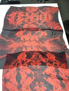 Printed scarves by Yakshi Malhotra