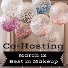 1 More Day!  My 1st Party | March 12 I can't begin to tell you all how ecstatic I am! After 3 years of Poshing, I'll finally co-host a Posh Party!    March 12th  Time: 12pm PT/3pm EST  Theme: Best in Makeup   Co-hosting with @candykissa143    Please feel free to tag your PFF's. I can't wait to meet them and discover their closets*.   *I'll be choosing host picks from compliant closets only. Makeup