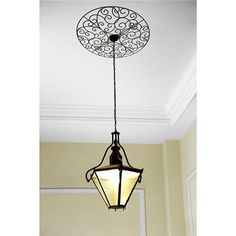 20 inch Bronze Scroll Ceiling Medallion Decal $18