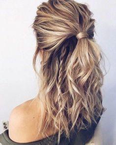 Cute Hairstyles For Medium Hair, Summer Hairstyles, Medium Hair Styles, Curly Hair Styles, Hairstyle For Medium Length Hair, Popular Hairstyles, Stylish Hairstyles, Half Up Hairstyles Easy, Hair Medium