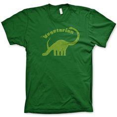 Vegetarian Dinosaur t-shirt dino veggie shirt by RocCityTees on Etsy https://www.etsy.com/listing/257707111/vegetarian-dinosaur-t-shirt-dino-veggie