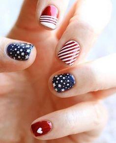 4th of july nails #gypsywarrior