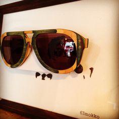 スケートボードで眼鏡フレームを創ってしまった凄い方だよ。是非フィッティングして欲しい!レンズ付き、ケース付きで展示販売中!#63mokko #眼鏡 #フレーム #スケートボード #木工 #サングラス #カフェ #ギャラリー ガレリアサローネ #立川 #sunglasses #wood #skateboard #material #eyewear #exhibition #cafe #gallery #handmade by #63mokko #tachikawa #tokyo galleria_salone #haveagoodtime http://www.63mokko.com/