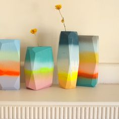 Image of Surf Spray Vessel Wood Vase, Wood Planters, Wood Slab, Surf Spray, Turbulence Deco, Color Blending, Happy Colors, Design Art, Surfing