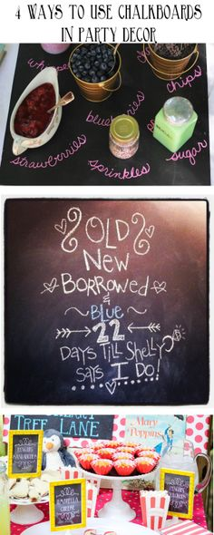 chalkboard party decor