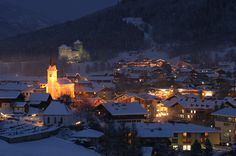 Kaprun at night in winter