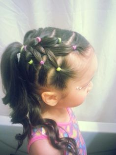 Gymnastics hair! My baby girl loved this for her holiday show case ♥