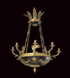 AN EMPIRE ORMOLU EIGHT-BRANCH CHANDELIER  EARLY 19TH CENTURY. Christie's.