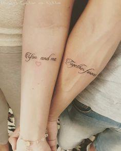 Tatuagem de casal namorado frases tattoo fineline tatuagem delicada