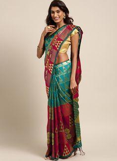 Sareetag Sea Green  Designer Classic Party Wear Saree Sari Shop, Trendy Sarees, Latest Designer Sarees, Beautiful Suit, Saree Shopping, Green Saree, Net Saree, Buy Sarees Online, Chiffon Saree