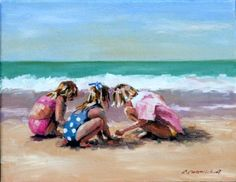 the wonder of exploring...this looks like candi, amanda and me at the beach when we were little.