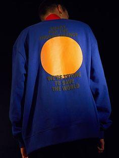 Moon Sweatshirts(BLUE) Tee Design, Logo Design, T Shorts, Fashion Details, Fashion Design, Rockabilly Fashion, Fashion Prints, Streetwear Fashion, Printed Shirts