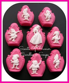 SNOW WHiTE & 7 DWARFS Soap Set  Unique by SCENTSOFHUMORCANDLES, $20.00