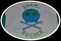 ShamRocker boy skull St Patrick's Day applique by ThatsSewSewCute, $3.00