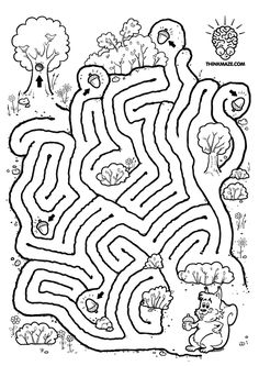 Nutty Squirrel Maze -ThinkMaze.com – Beautiful Mazes on the Web!
