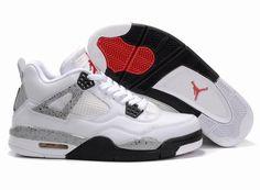 Air Jordan 4 Retro White Grey Black