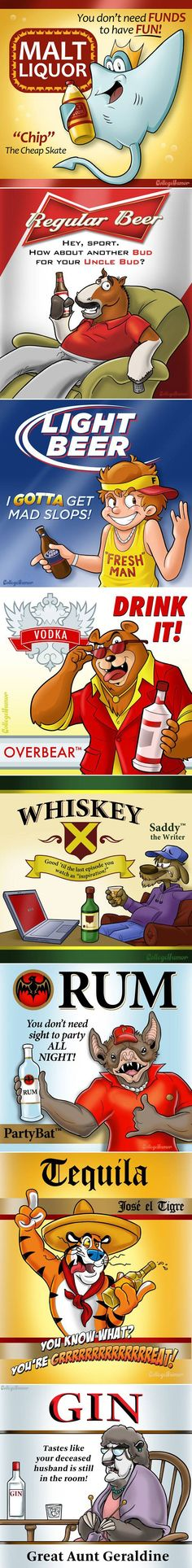If alcohol had mascots like cereal - Imgur