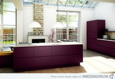 Kitchen color finalist.  Aubergine- yep here it is...