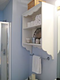 Our master bathroom is small . . . tiny in fact and storage has always been an issue.     The past few years two basic shelves provided a ...