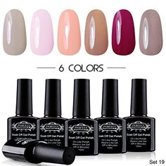 Perfect Summer UV LED Soak Off Gel Nail Polish, Classic P…