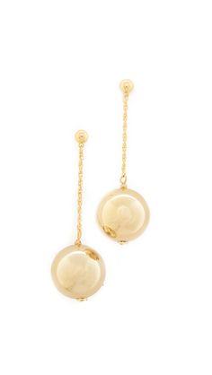 Dangling Sphere Earrings