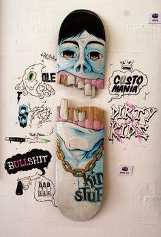 Cool idea. Myoldskateboard.tumblr.com