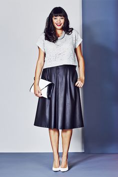 The Spring Silhouette Every Curvy Girl Should Know  #refinery29  http://www.refinery29.com/circle-skirts#slide1