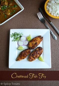 Spicy Treats: Chettinad Fish Fry / Chettinad Meen Varuval / Masala Fish Fry - Chettinad Style