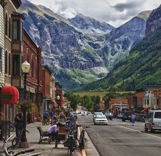 Telluride, CO because everyone should go there once in their life!  I've been here and I agree - it's awesome!  I would so love to do the states.