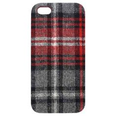 Tribeca YD004-CFS01 Fabric Hardshell Case for iPhone - 1 Pack - Retail Packaging - Red Flannel