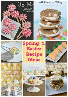 Spring and Easter Recipe Ideas galore! Mom and I are going to have to go to Marketplace and get groceries so we can make some of these for our Easter Dinner! Grandma and Grandpa are coming from California. I can't wait!! Love Elle