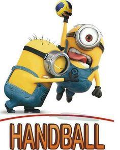 Minions play handball too! Minions Love, Minions Despicable Me, My Minion, Funny Minion, Women's Handball, Handball Players, Basketball Academy, Basketball Funny, Girls Basketball