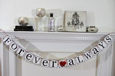 Items similar to Forever and Always Banner - Wedding Banners - Valentines Banner - Wedding Banner- Wedding Decorations on Etsy Valentine Banner, Valentine Decorations, Valentines Day, Wedding Decorations, Wedding Banners, Our Wedding, Bridal Shower, Unique Jewelry, Holiday Decor