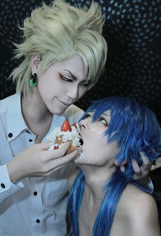 AOBA*Ryo - dmmd aoba and trip photo by 優  OMG, TRIP EXISTS!!!!! EVERYBODY, HID YOUR CHILDREN, THIS MAN OWNS AN ABUSIVE LION AND HAS A WEIRD CAKE FETISH!!!