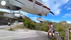 Turista quase é atropelado por avião no aeroporto de St. Barts