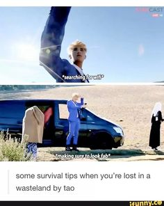 Tao's book to surviving: 1. Always look fabulous 2. WiFi is everywhere, you just have to search for it sometimes like gold 3. There's nothing to worry about when you have a stylist on the sidelines 24/7