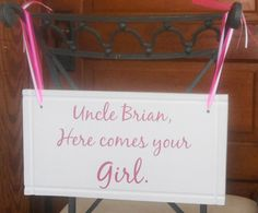 #wedding #sign Uncle here comes your girl and Let's Celebrate by Frameyourstory, $49.95