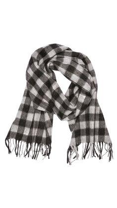 Buffalo plaid scarf.