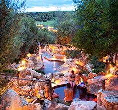Peninsula Hot Springs near Fingal, Mornington Peninsula, Victoria, Australia. Photo: Brevent_Weekend