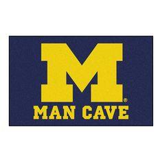 Fanmats Machine-Made University of Michigan Nylon Man Cave Ulti-Mat