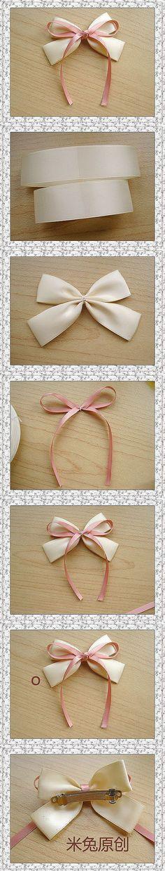 米兔原创的教程,适合初学者制作的蝴蝶结…