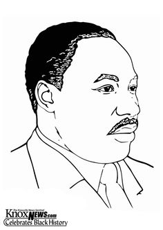 coloring page martin luther king jr