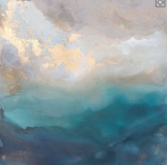 Gorgeous soft abstract in water colour